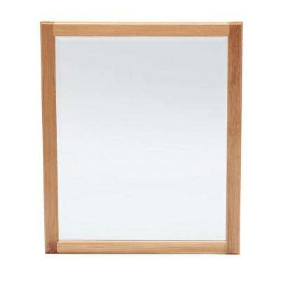 Hampton 28 in. x 34 in. Framed Vanity Mirror in Natural Hickory