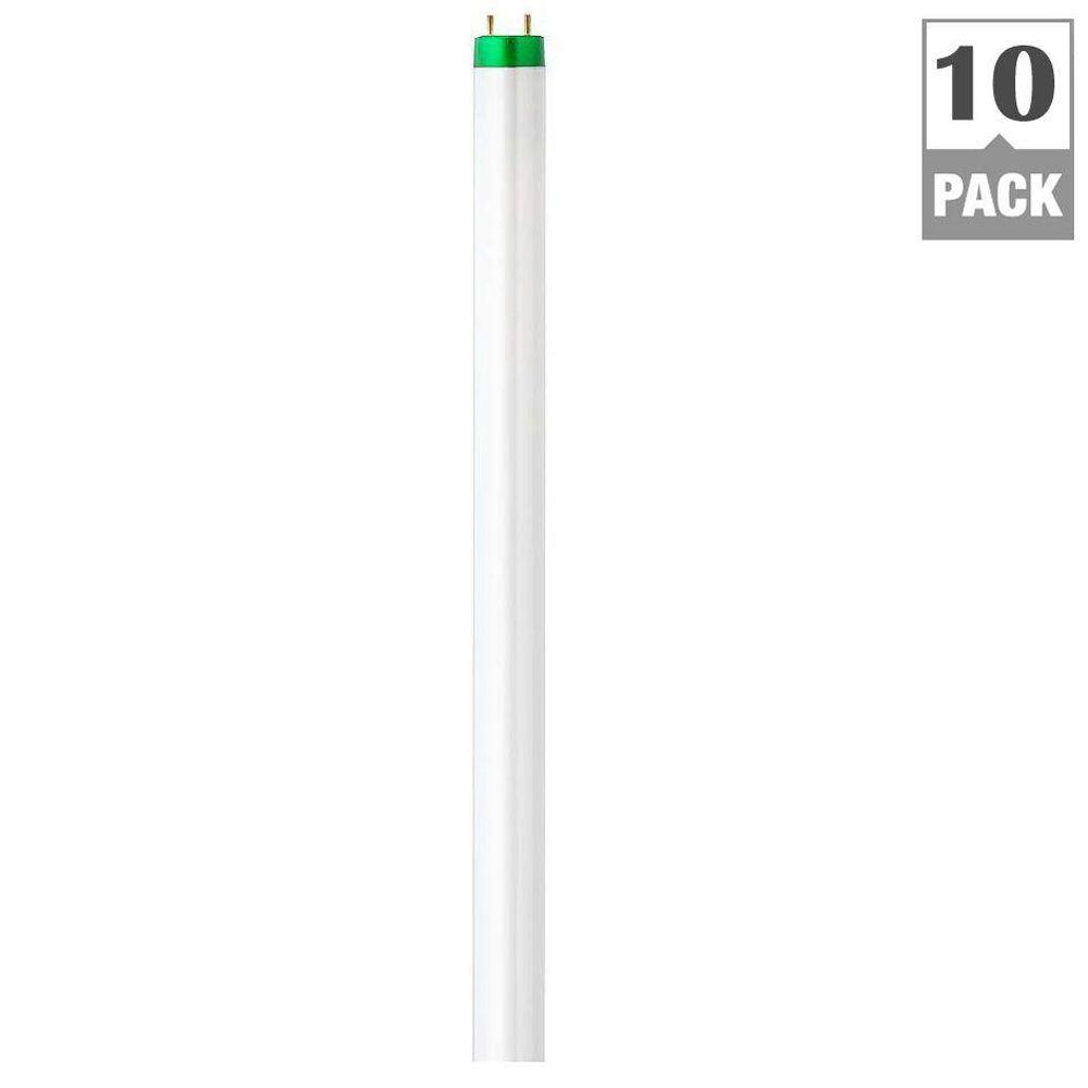 Philips 4 ft. T8 32-Watt Daylight Deluxe (6500K) ALTO Linear Fluorescent Light Bulb (10-Pack)