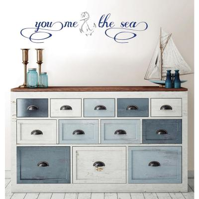 19.5 in. x 17.25 in. You, Me and the Sea Wall Decal