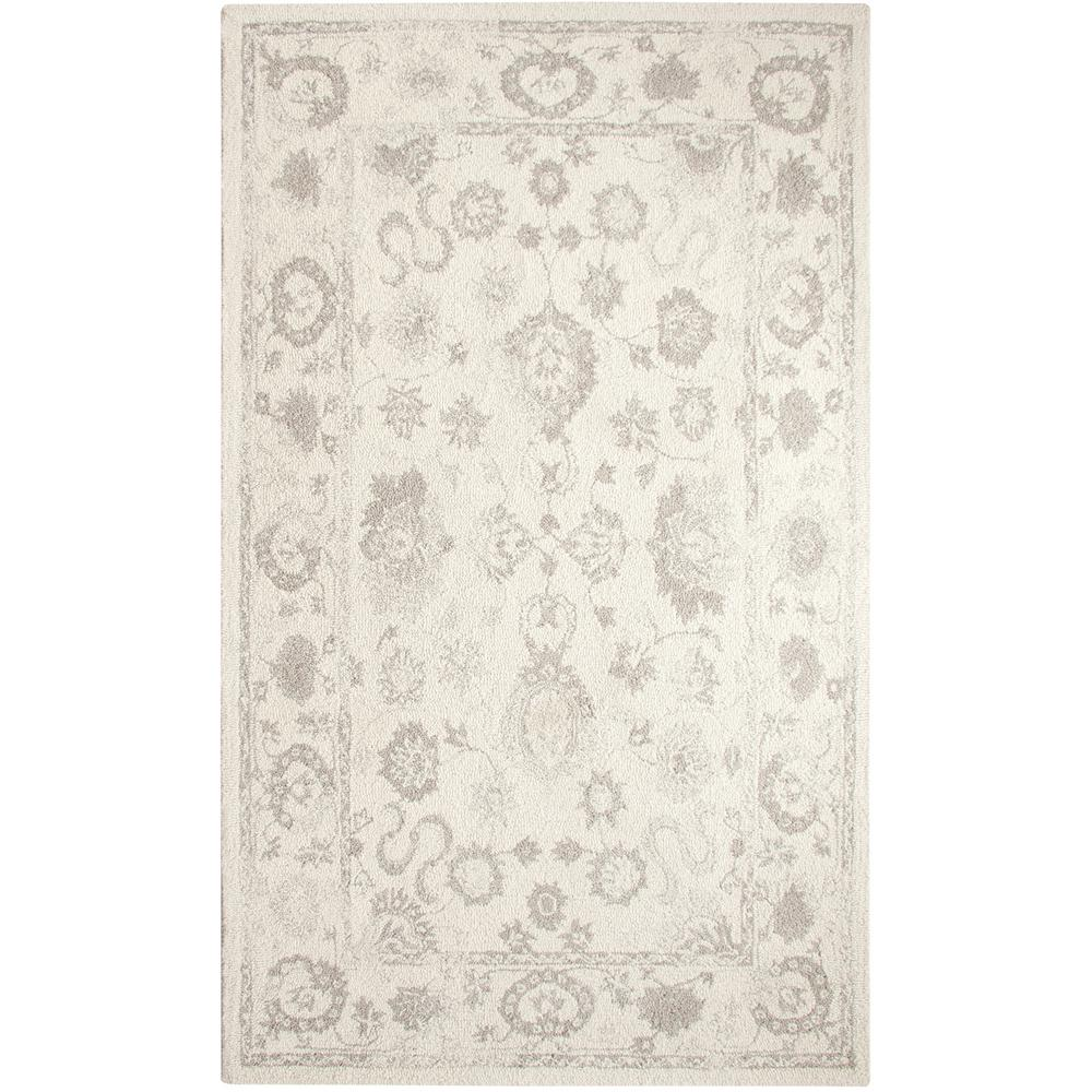 Dynamic Rugs Avalon Ivory Silver 3 Ft X 5 Indoor Area Rug