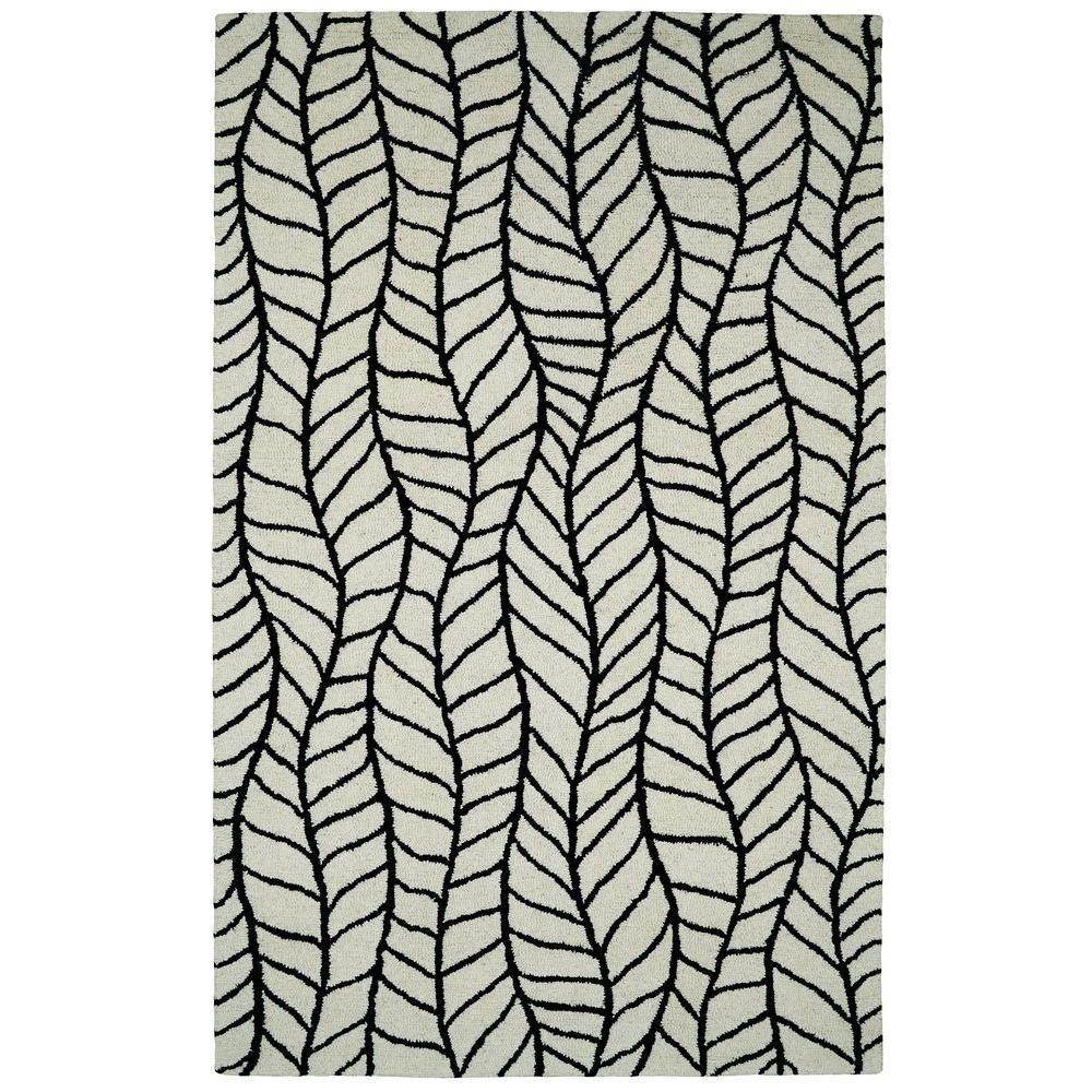 Dynamic Rugs Palace Black White 4 Ft X 6 Ft Indoor Area Rug