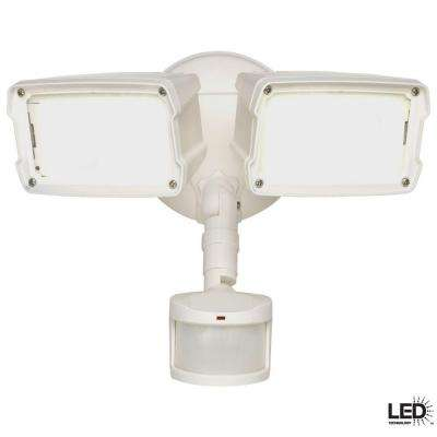 180-Degree White Motion Activated Sensor Outdoor Integrated LED Security Flood Light