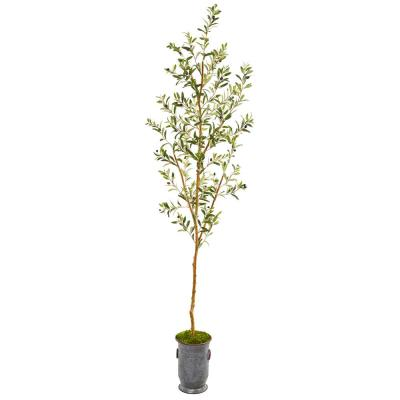 7.5 ft. Olive Artificial Tree in Decorative Planter