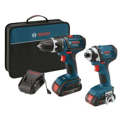 Factory Reconditioned 18-Volt Lithium-Ion Cordless 1/2 in. Drill Driver and Impact Driver Combo Kit (2-Tool)