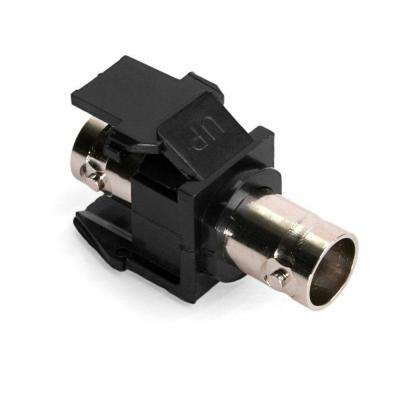 QuickPort BNC Nickel-Plated Adapter, Black
