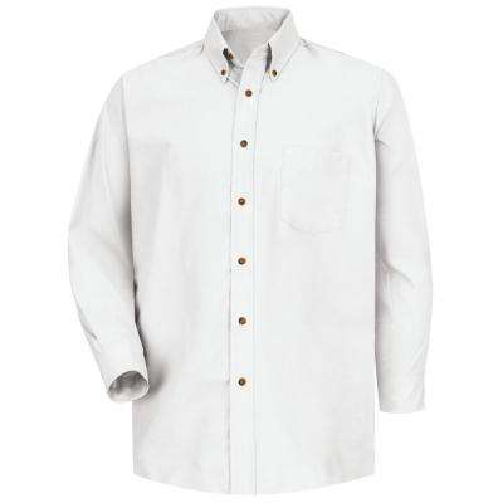 Men's Size 34/35 (Tall) White Poplin Dress Shirt