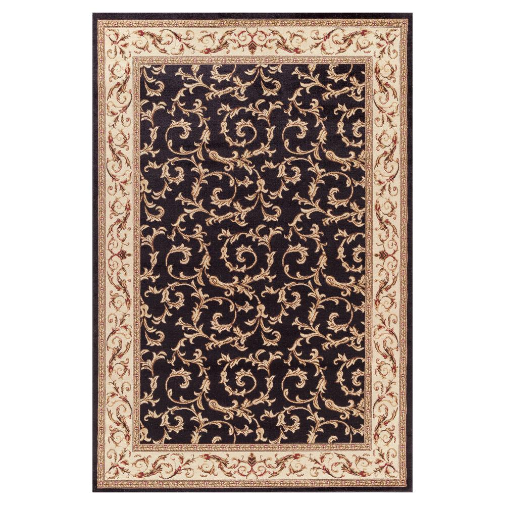 Concord Global Trading Jewel Veronica Black 6 ft. 7 in. x 9 ft. 3 in. Area Rug