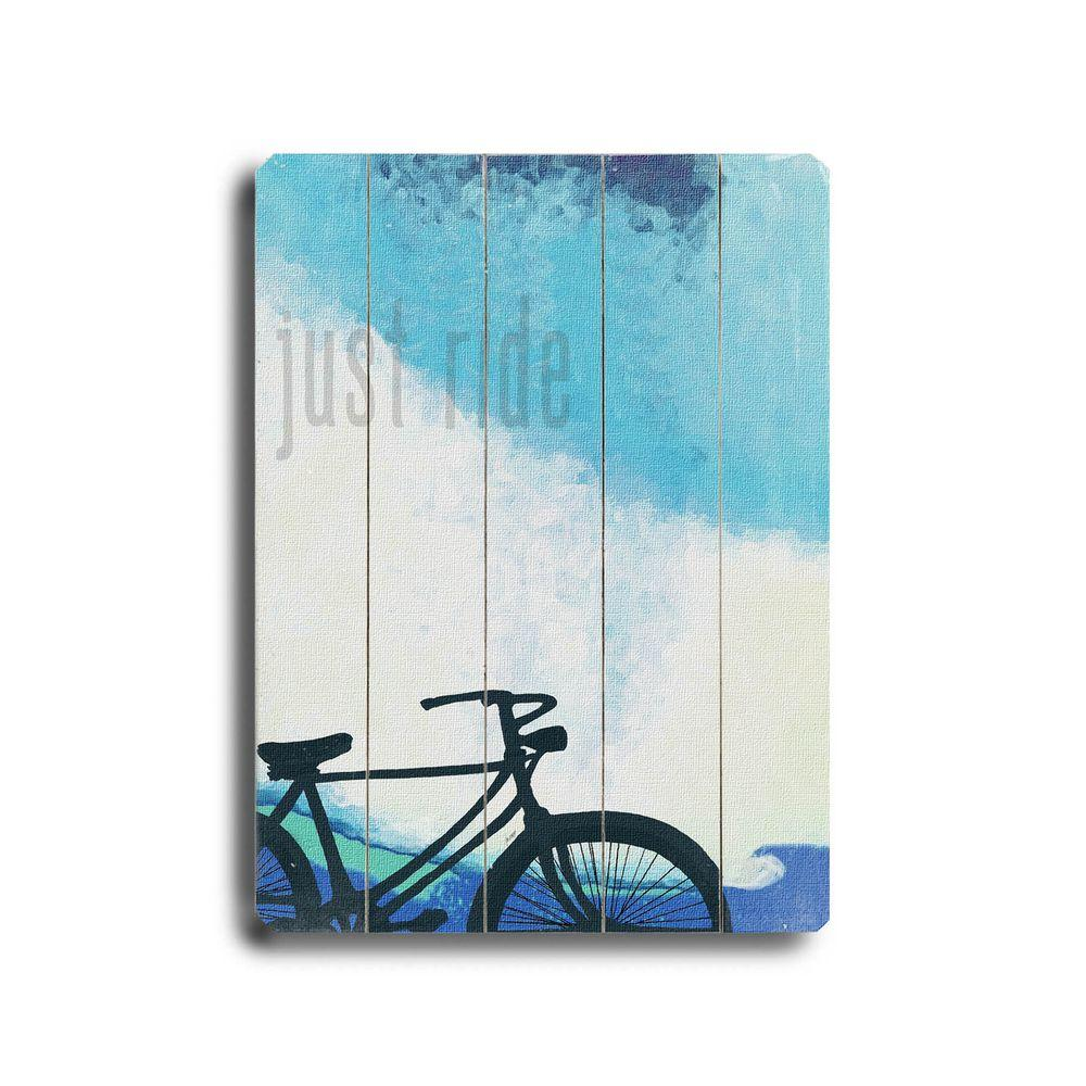 ArteHouse 9 in. x 12 in. Just Ride Wood Sign-DISCONTINUED