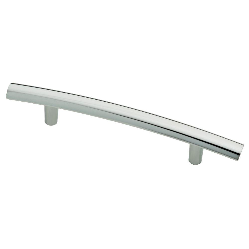 Arched 3-3/4 in. (96mm) Polished Chrome Drawer Pull