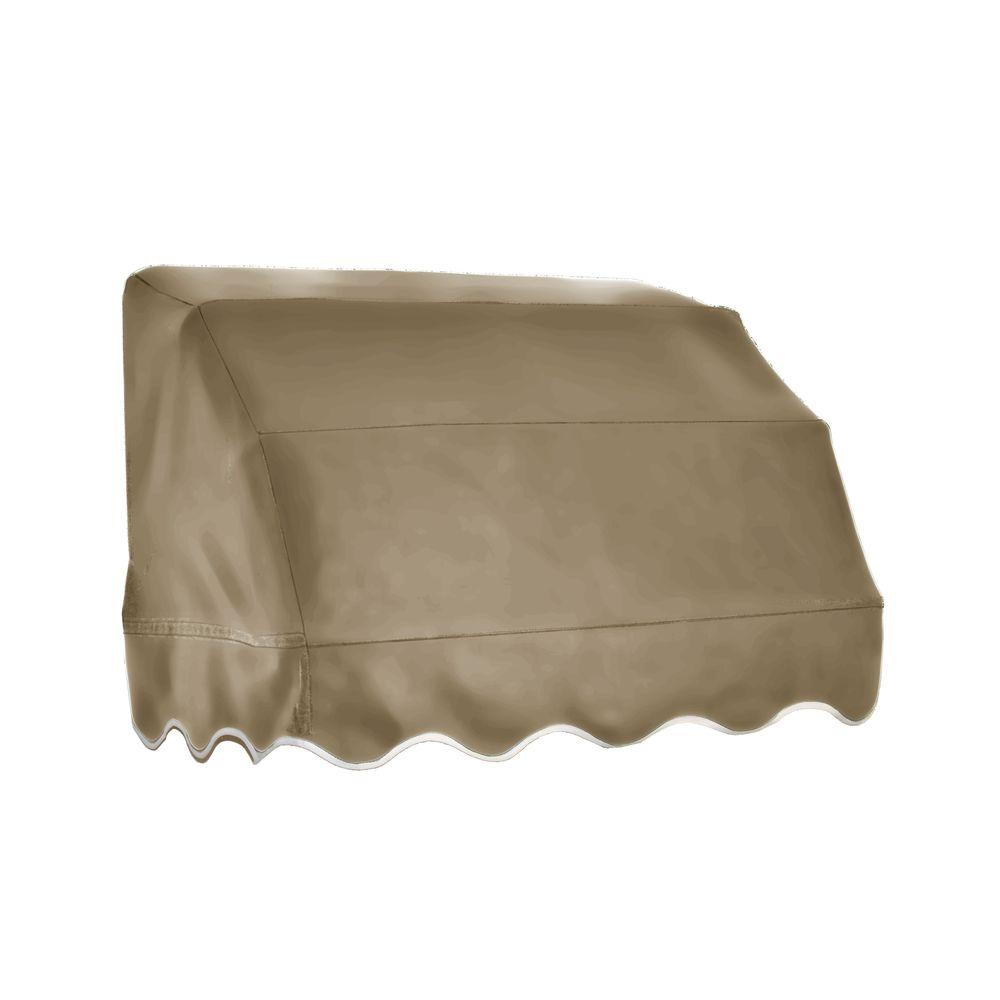 Beauty-Mark 3 ft. Vermont Waterfall Awning (31 in. H x 24 in. D) in Tan