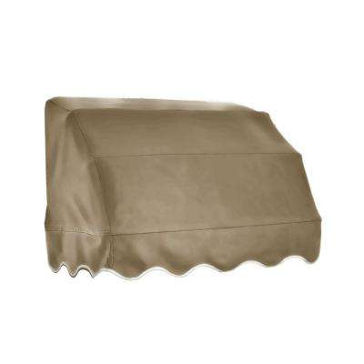 4 ft. Vermont Waterfall Awning (31 in. H x 24 in. D) in Tan