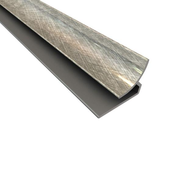 Fasade 4 ft. Inside Corner Trim in Cross Hatch Silver 162-21
