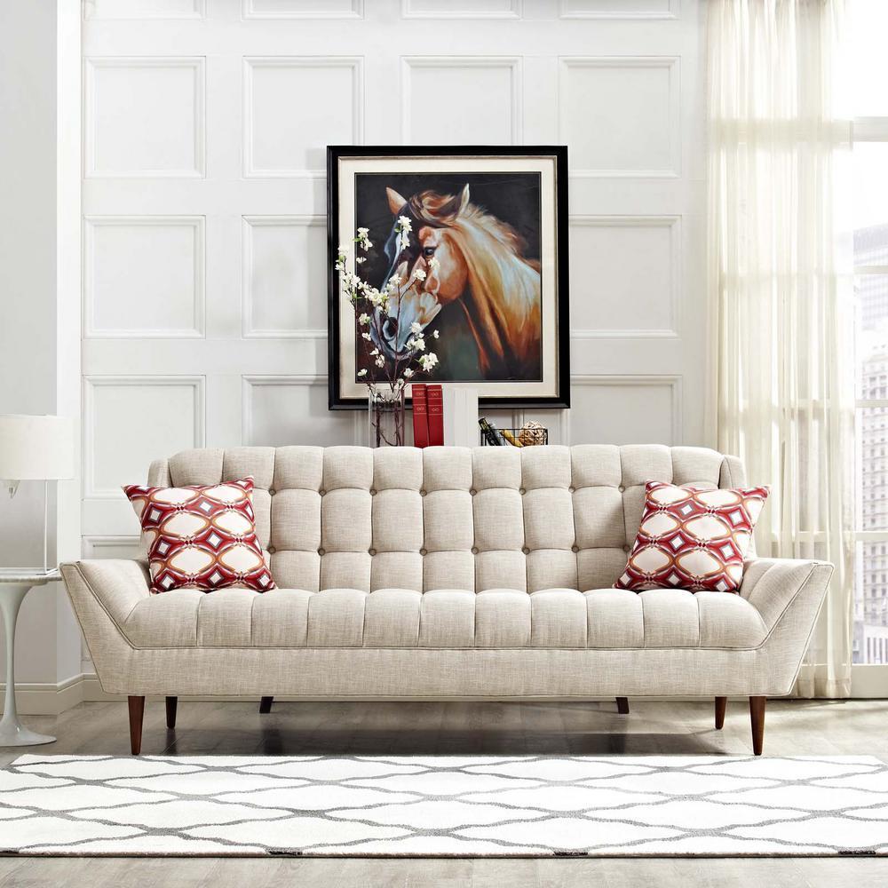 Response Beige Upholstered Fabric Sofa