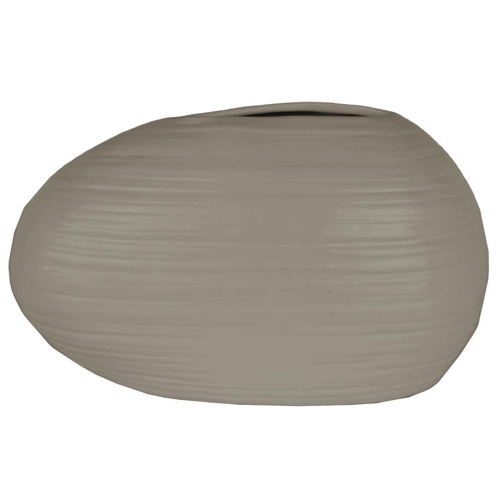 Urban Trend Gray Coated Ceramic Decorative Vase, Grays
