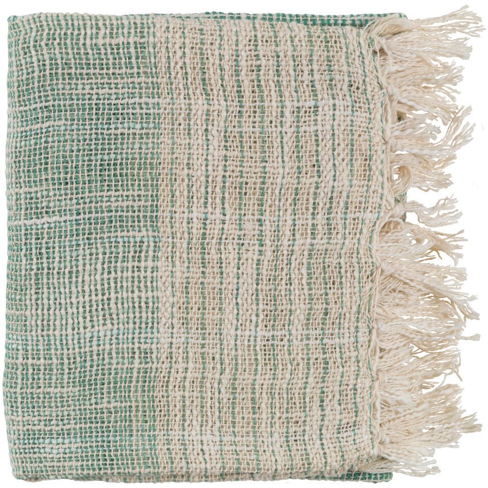 Erindale Emerald Cotton Blend Throw