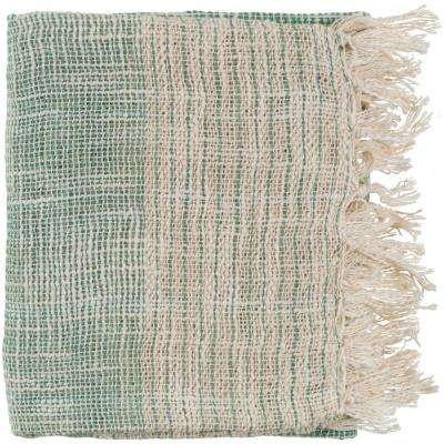 Erindale Emerald Cotton Blend Throw