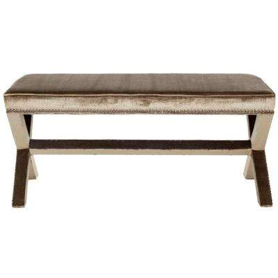 Melanie Antique Sage Bench