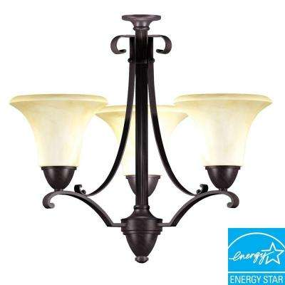 Swain 3-Light Oil-Rubbed Bronze Chandelier
