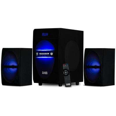 Bluetooth 2.1 Multimedia Speaker System with LED Lights
