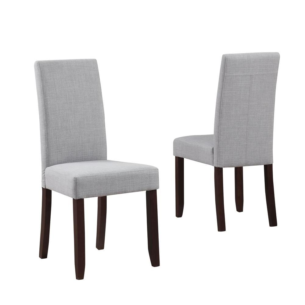 Simpli Home Acadian Contemporary Parson Dining Chair (Set of ...