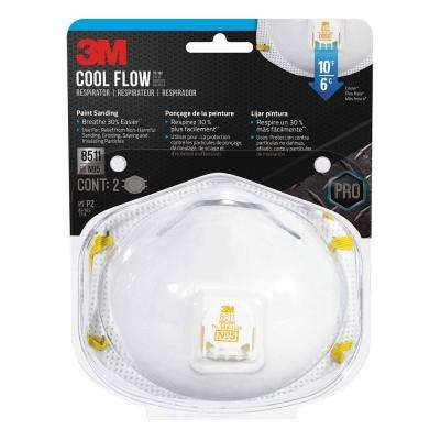 N95 Paint Sanding Valved Respirator Masks (2-Pack) (Case of 6)