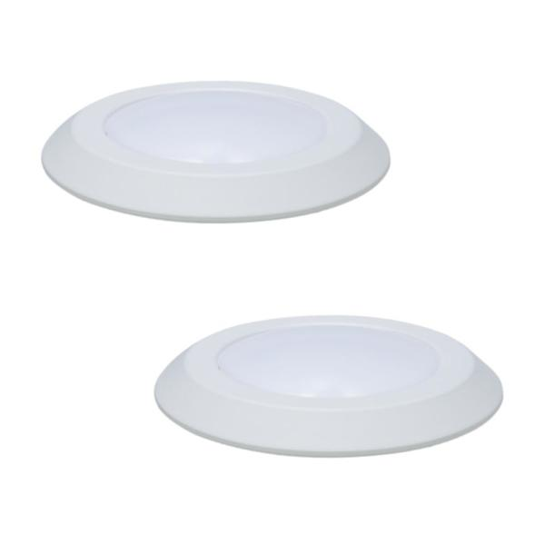 6 in. White Integrated LED Recessed Ceiling Mount Light Trim at 3000K Soft White Title 20 Compliant (2-Pack)