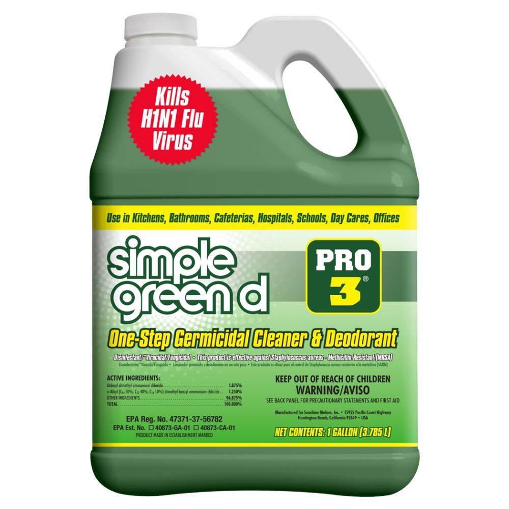 Pro 3, 128 oz. Herbal-Pine Professional Grade Disinfectant
