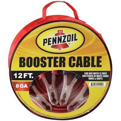 Heavy Duty 12 ft. 8-Gauge Booster Cables