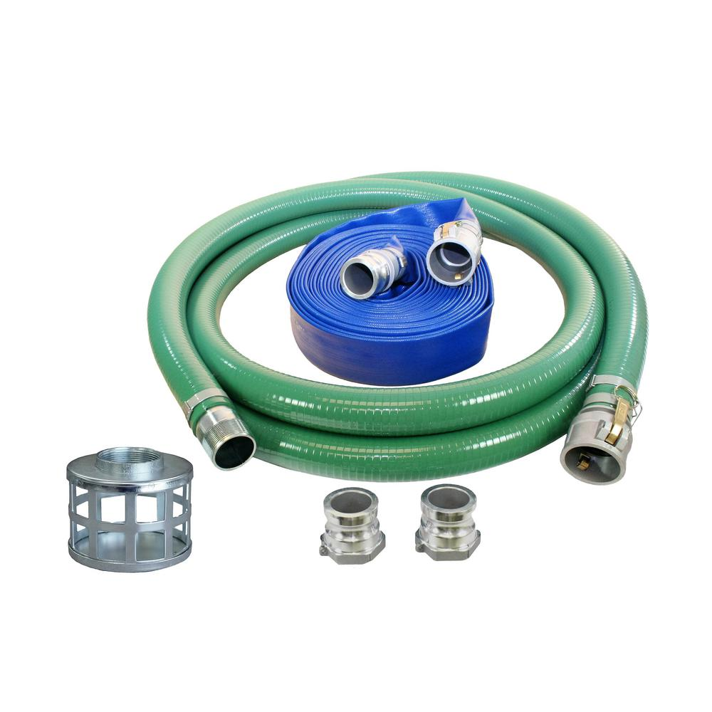 4 in. Trash Water Pump Hose Kit with Quick Connects