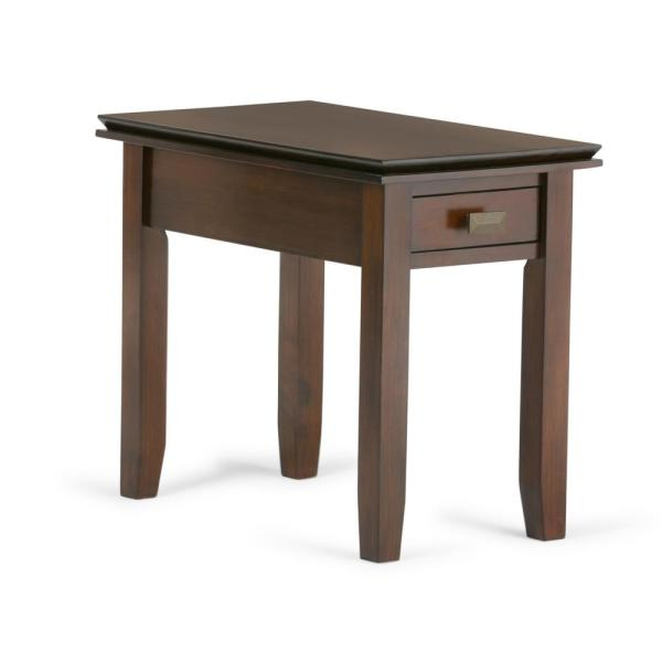 Simpli Home Artisan Solid Wood 14 in. Wide Contemporary Narrow End