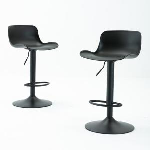 Deals on 2 Harper & Bright Designs 32 in. Low Back Counter Height Bar Stool