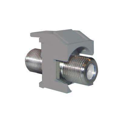 Keystone Nickel Recessed F-Connector - Magnesium