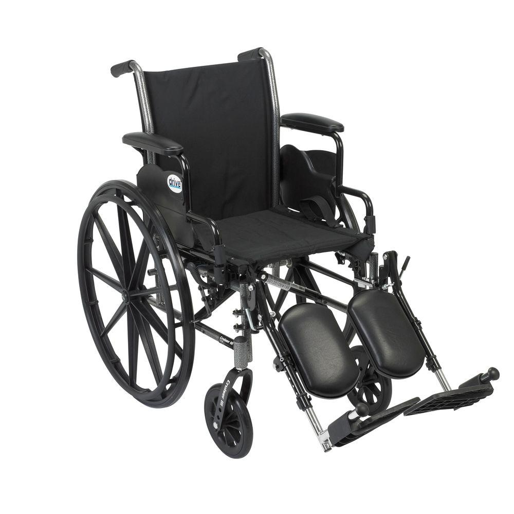 Cruiser III Wheelchair with Removable Flip Back Arms, Desk Arms and