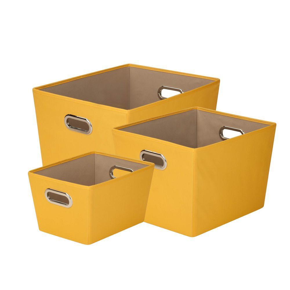 16.8 Qt, 38.3 Qt. and 58.9 Qt. Storage Tote in Yellow (3-Pack)