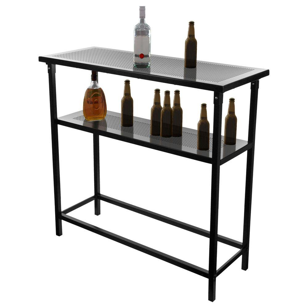 Trademark Global Bowling Green 2-Shelf Orange Bar with Case
