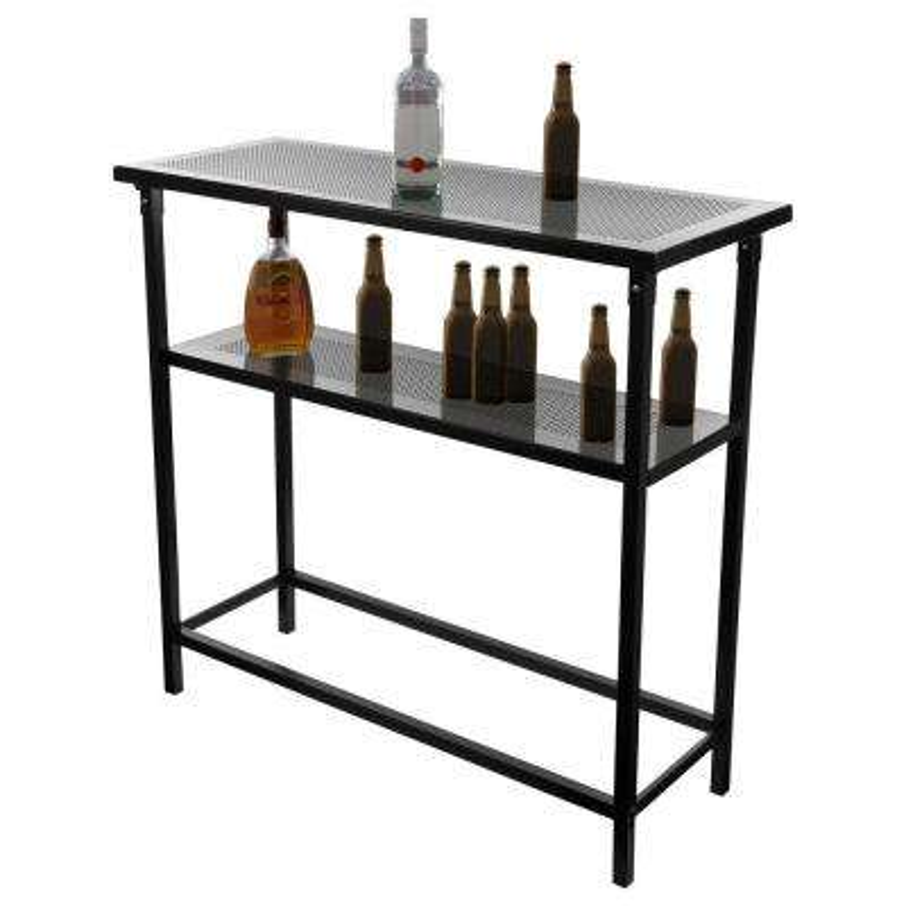 University of Miami Wordmark 2-Shelf Green Bar with Case