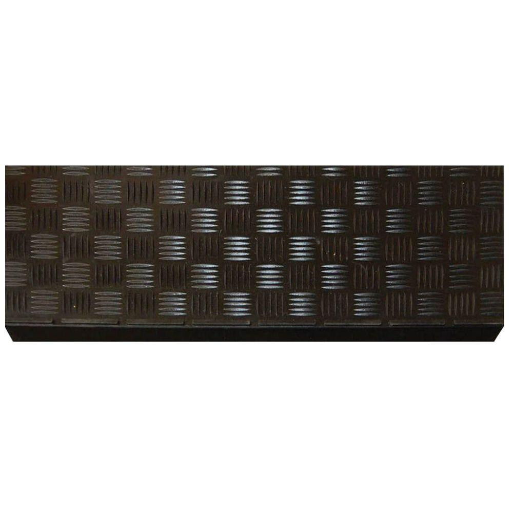 Gentil Multy Home Black Rubber 9 In. X 24 In. Square Stair Tread Cover (