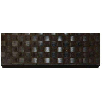 Black Rubber 9 in. x 24 in. Square Stair Tread (10- Pack)