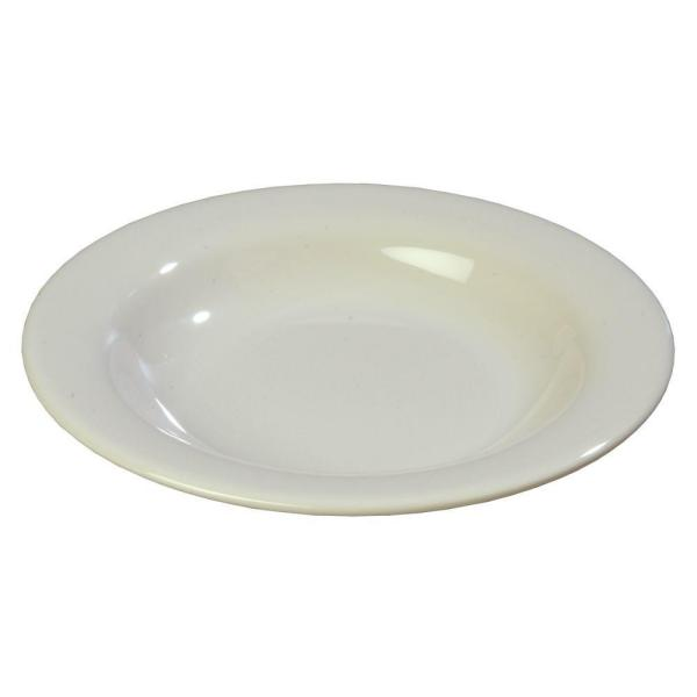 Carlisle 13 oz., 9.25 in. Diameter Wide Rim Melamine Pasta, Soup