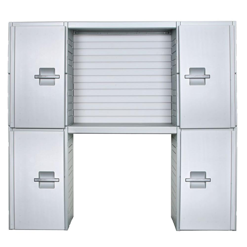 Inter-LOK Storage Systems 89 in. Wide Cabinet Storage System with Slatwall Kit-DISCONTINUED