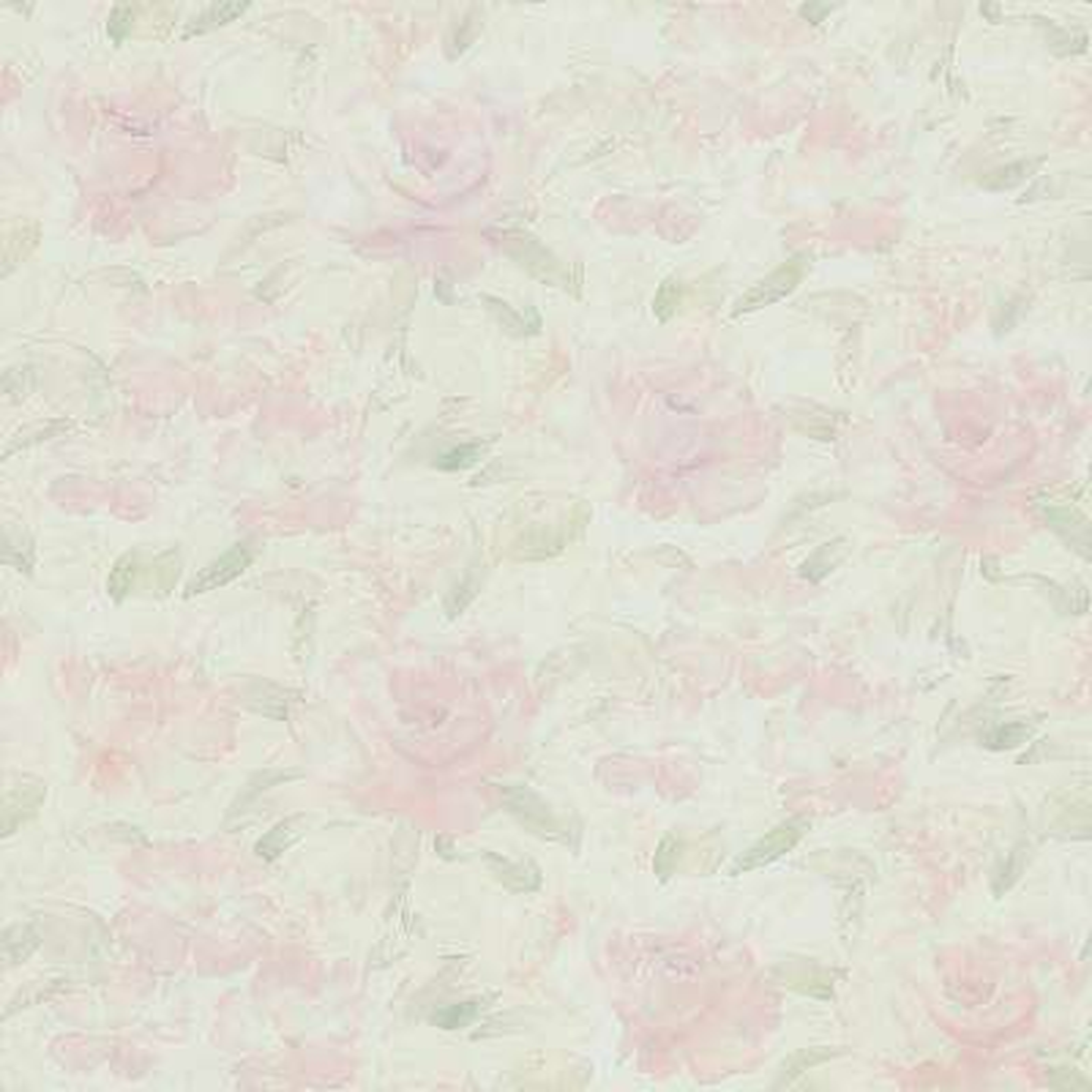 56.4 sq. ft. Stafford Pink Satin Floral Wallpaper