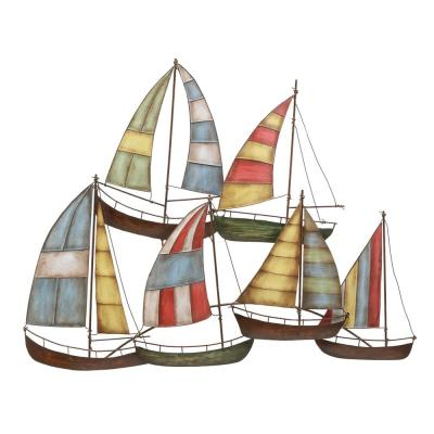 Iron Multicolored Sailboats Metal Work