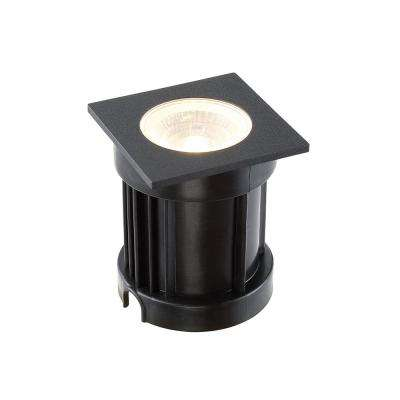 10-Watt Black Aluminum Body Outdoor Integrated LED Landscape Well Light