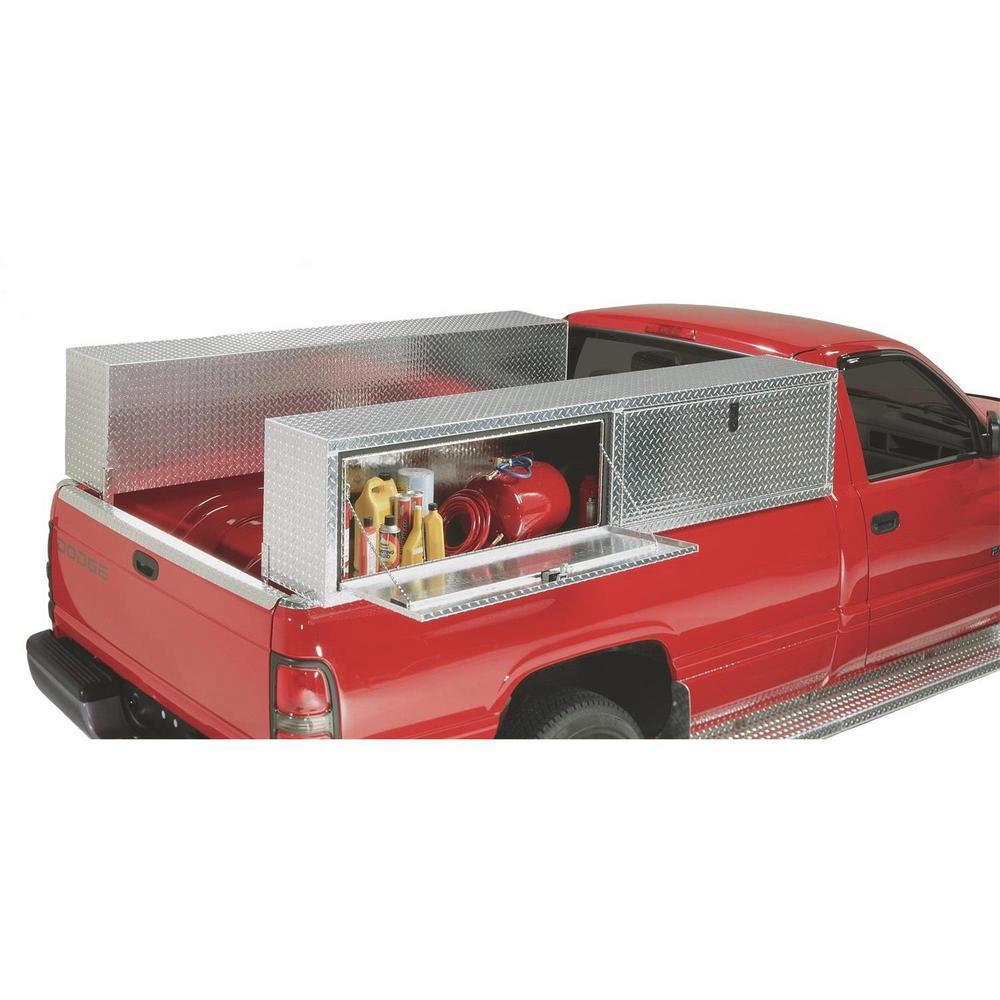 90 in Diamond Plate Aluminum Full Size Top Mount Truck Tool Box