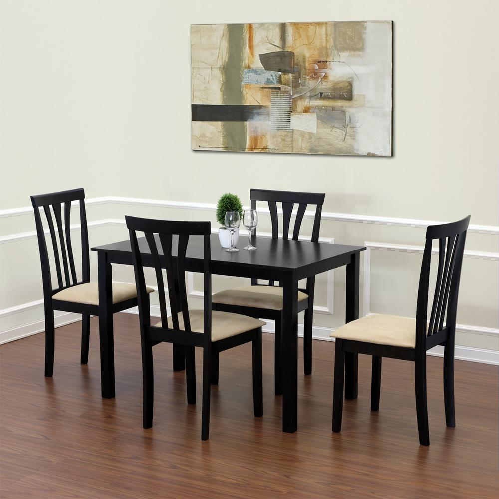 Franklin Espresso Solid Wood Dining Chairs (Set of 2)