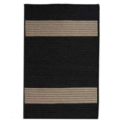 Cafe Milano 2 ft. x 7 ft. Black/Tostado Indoor/Outdoor Braided Runner Rug