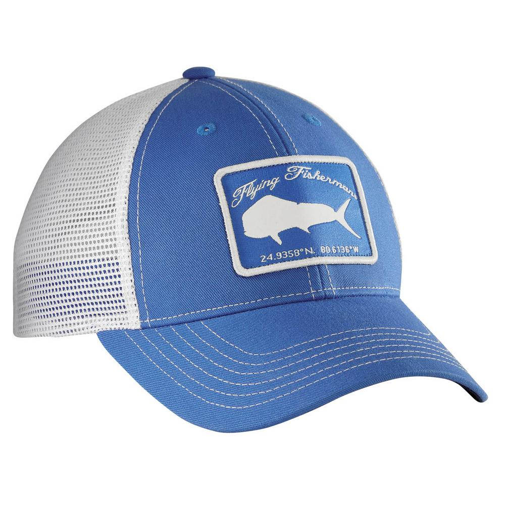 2e14e443409db Flying Fisherman Blue and White Mahi Trucker Hat-H1766 - The Home Depot
