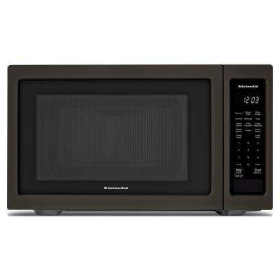 1.6 cu. ft. Countertop Microwave in Black Stainless