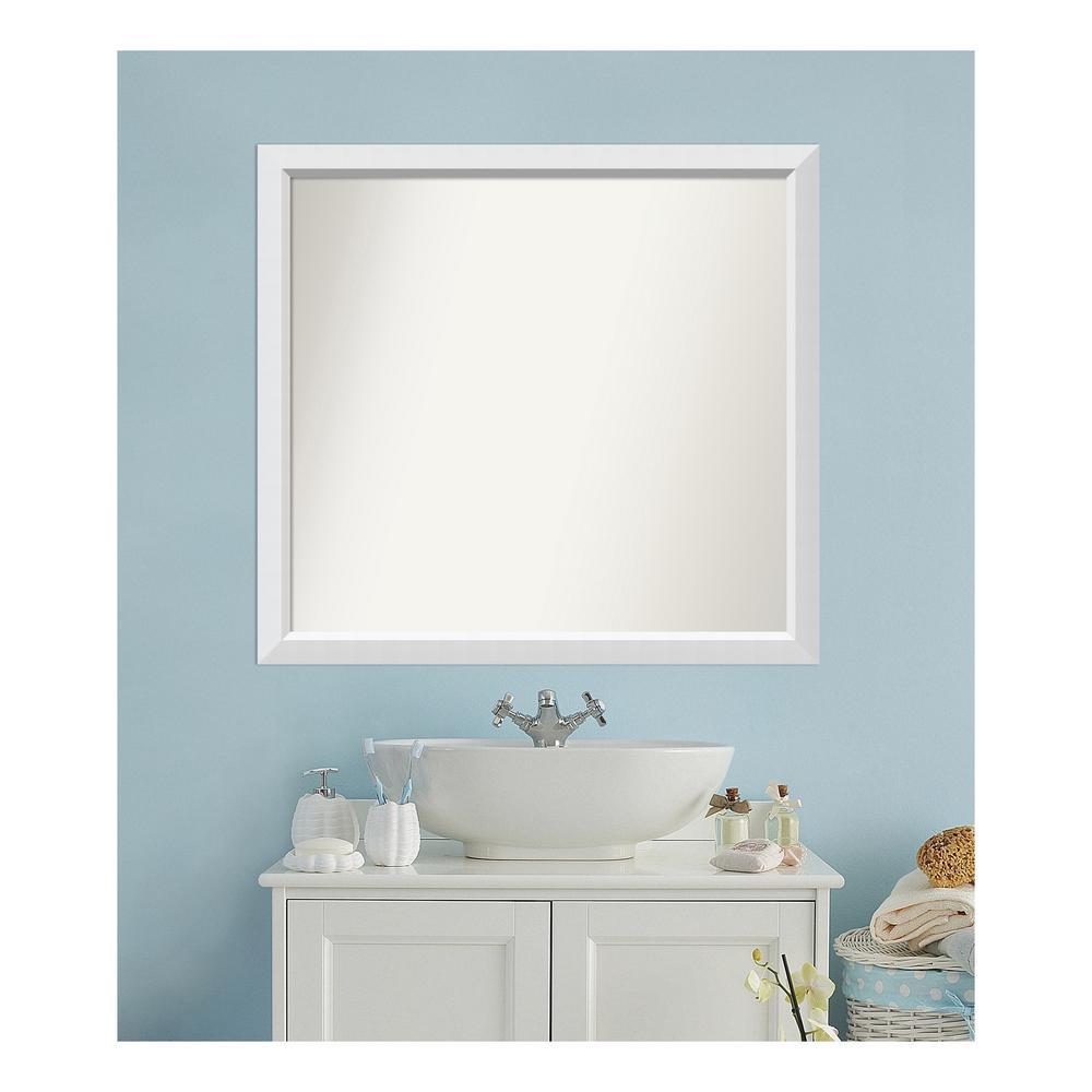 Amanti Art 37 in. x 40 in. Blanco White Wood Framed