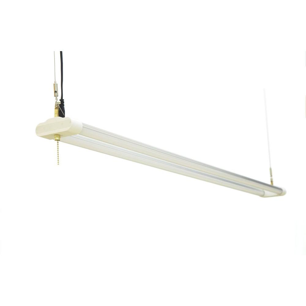 4 ft. Double Bulb T8 36-Watt Daylight G13 Frosted Lens Linear